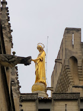 Photo: Virgin Mary petting a gargoyle, Papal Palace