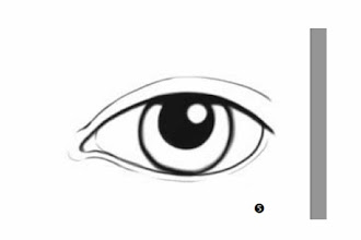 Photo: My starting point was to trace this eye, then further sculpt it with shading and other details. I know tracing is cheating, but I don't care. I could either fight for an hour trying to get the right shape, or I could trace it. So sue me.