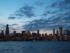 Photo: Chicago during blue hour