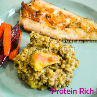 Green Lentil and Sweet Potato – Protein Rich.