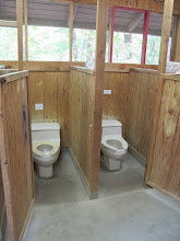 Photo: Omikse Bathhouse:  There are 4 toilets in each bathhouse.