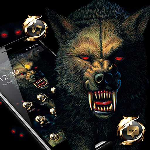 Dark Bloody Vivid Wolf Theme Apps On Google Play