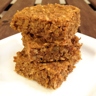 Pumpkin Peanut Butter Banana Oat Bars