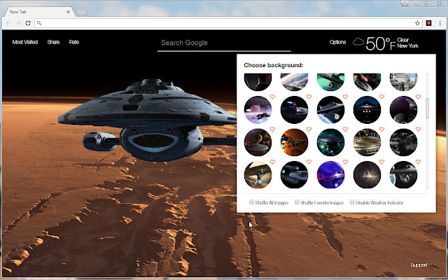 Star Trek Is Awesome Install This Themes To Get HD Wallpapers Of In Every New Tab
