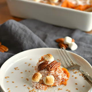 Low Sugar Sweet Potato Casserole