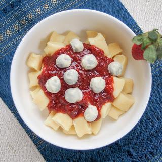 Dessert gnocchi with balsamic strawberry sauce #SundaySupper #FWCon