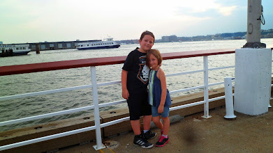 Photo: Gen and Ethan, on the Hudson, before we left NYC