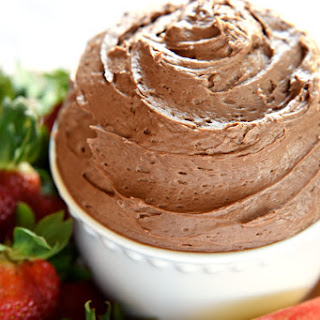 Fluffy Chocolate Fruit Dip.
