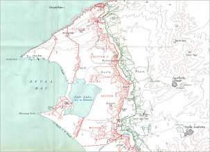 Photo: The War Dairies, on the next few pages, will help identify some of the areas on this map.