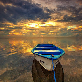 Morning Glow by Agoes Antara - Transportation Boats