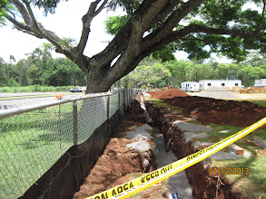 Photo: The fire lane is just about completed and needs to be inspected before they can backfill it.
