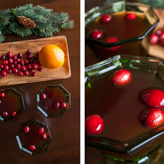 Cranberry Rob Roy with scotch and orange