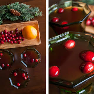 Cranberry Rob Roy with scotch and orange.