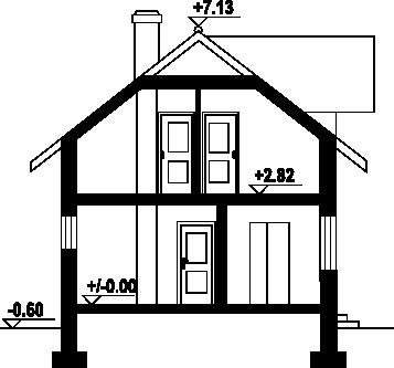 Osiek wąski 2k - Przekrój