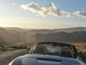 Photo: Hardknott Pass from the summit down towards Eskdale.