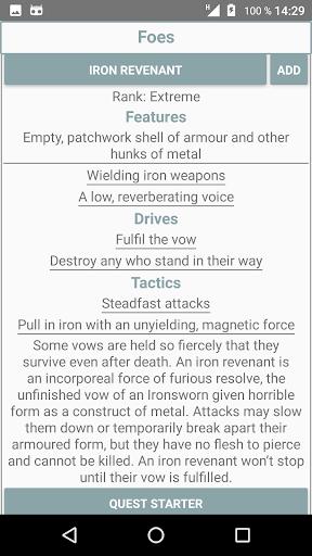 Ironsworn Companion  captures d'écran 2