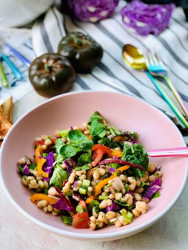Haricot Beans Salad With Yacon And Sweet Marmande Recipe