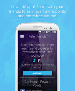 rewardbase free mobile credit- screenshot thumbnail