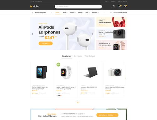 Digital products magento theme Molla