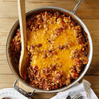 One-Skillet Cheesy Beef and Macaroni.