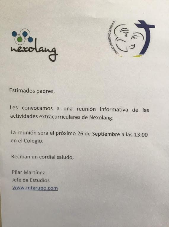 reunion-informativa-actividades-extracurriculares-nexolang-13-00h