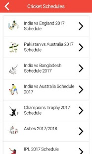 Cricket Schedule Live Scores All Cricket News 2017- screenshot thumbnail