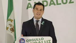 Juanma Moreno, este miércoles en un acto del PP.