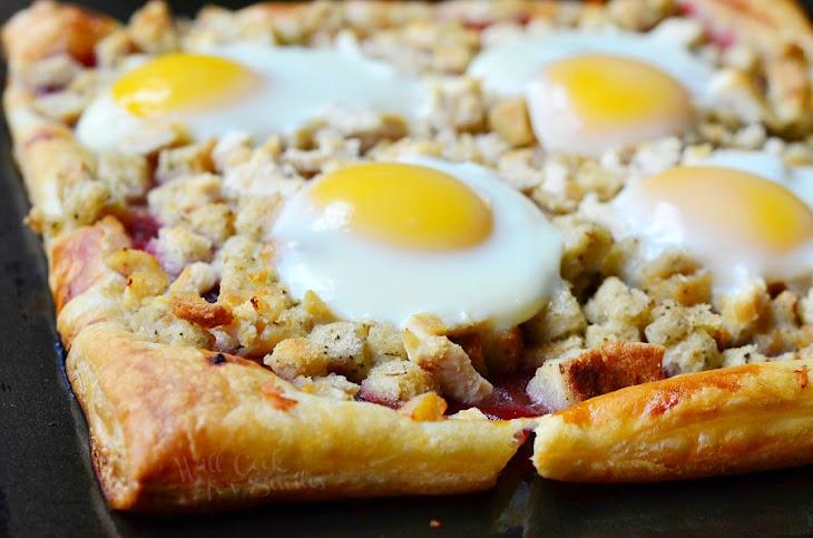 Thanksgiving Leftovers Tart (Turkey, Stuffing, Cranberry and Egg Tart ...