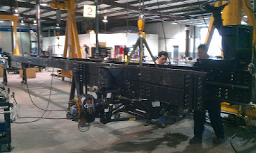 Photo: Power Gluide Chassie Being Assembled
