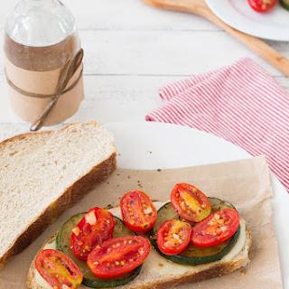 Sautéed Tomato, Zucchini, and Mozzarella Sandwiches