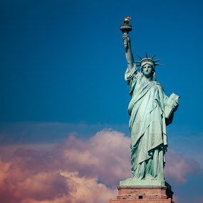 Statue of Liberty by Paschalis Angelopoulos - Travel Locations Landmarks ( liberty, statue of liberty, pwclandmarks, eiffel, nyc, new york, usa )