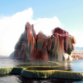 Fly Geyser by Ralph MInnitte - Landscapes Travel