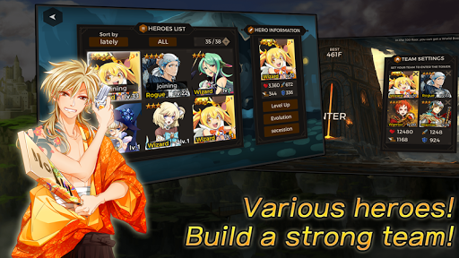 Secret Tower 500F (Super fast growing idle RPG) apktram screenshots 5
