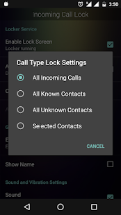 Incoming Call Lock- screenshot thumbnail