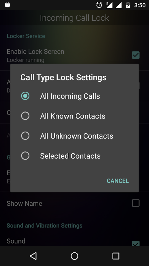 Incoming Call Lock- screenshot