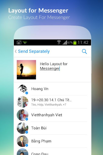 Layout for Messenger