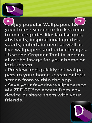 ... Guidе for ZEDGE ringtone and wallpaper apps ...