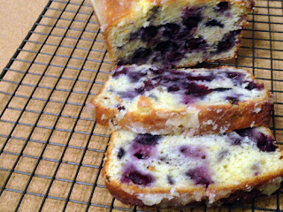 Lemon Glazed Blueberry Tea Bread Recipe
