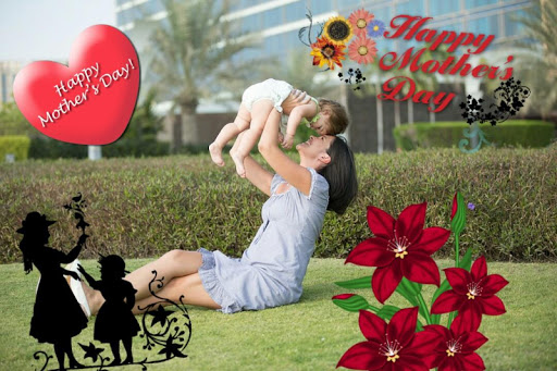PC u7528 Mother's day photo stickers 1