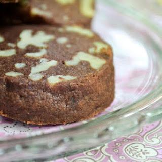 Chocolate Walnut Shortbread Cookies