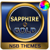 Sapphire Gold Theme for Xperia