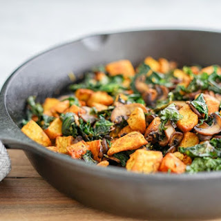 Potato, Mushroom and Kale Hash Skillet | Vegan | Gluten-Free.