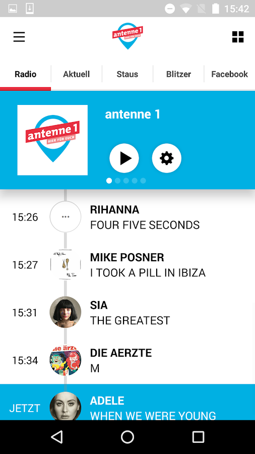 antenne 1- screenshot