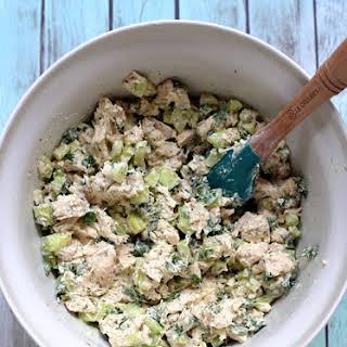 Cucumber Dill Greek Yogurt Rotisserie Chicken Salad.
