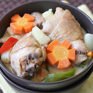 Pininyahang Manok {Coconut Chicken with Pineapple}.