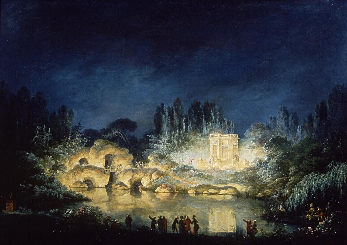 Illumination du Belvédère du Petit Trianon - Claude-Louis Châtelet ...