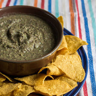 Chickpea and Black Bean Dip.