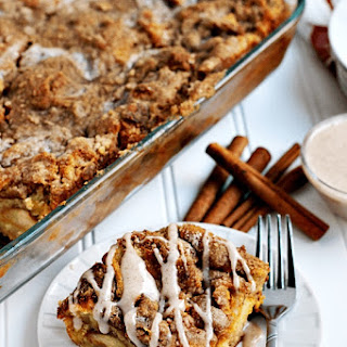 Overnight Pumpkin Cheesecake French Toast Casserole