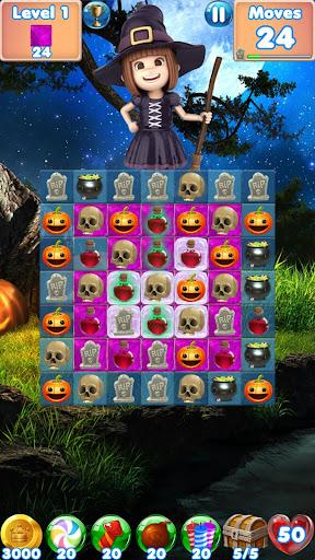 Halloween Games 2 - fun puzzle games match 3 games screenshots 11