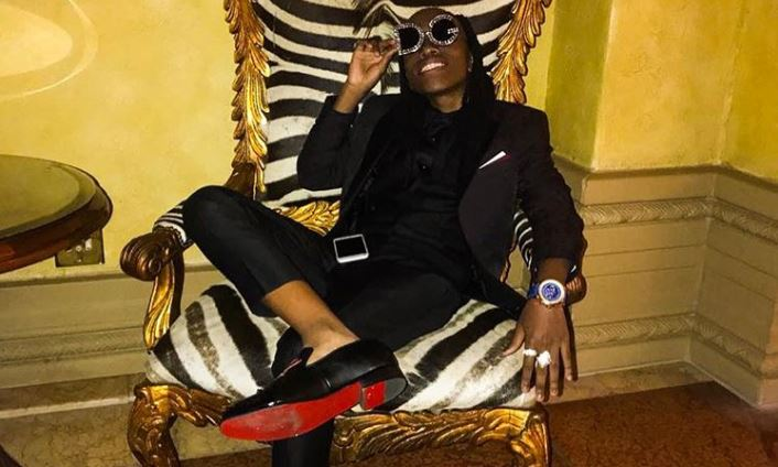Robbie Malinga's son has been flaunting designer labels on social media.